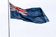 Australian Flag with pole