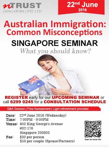 Australia Migration Agency Singapore Seminar